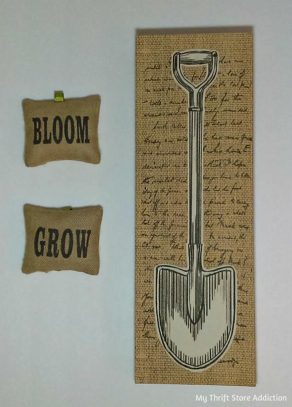 I dig gardening summer mantel