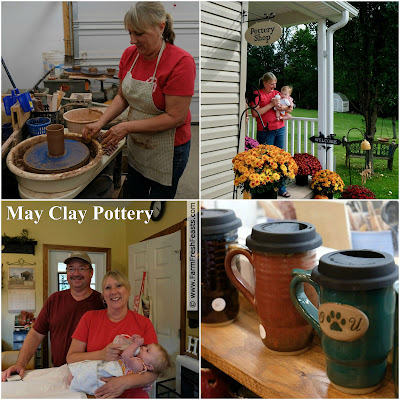 visit May Clay Pottery in Marietta, Ohio to learn to throw pots or pick up some gifts