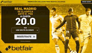 betfair supercuota Real Madrid se clasifica ante el PSG 6 marzo
