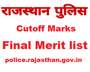 Rajasthan Police Constable cut off Marks 2018