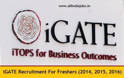 Igate Recruitment 2018 2019 Job Openings For Freshers
