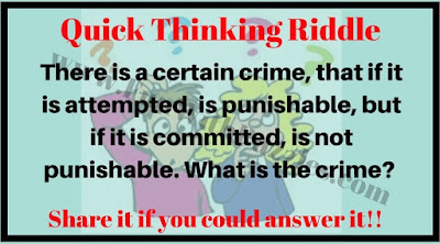 Quick Thinking Riddle