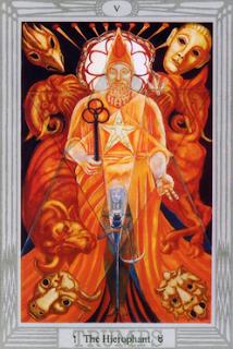 Crowley-Harris Thoth Tarot The Hierophant V