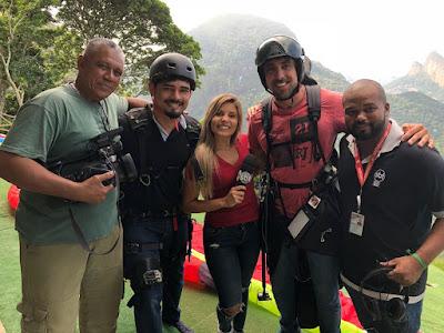 Joel da Conceição, cinegrafista, Filipe, Pri Borges, Joe e Ronald Silva.  Crédito: Divulgação/SBT