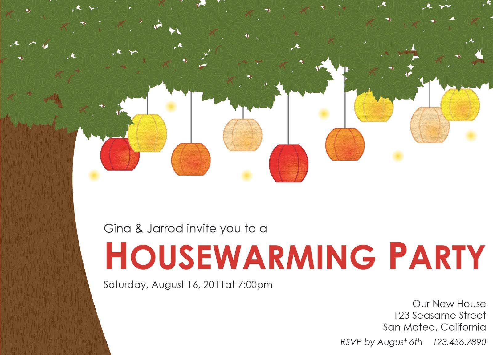 lowercase j design housewarming party invitation