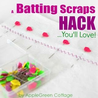how to use batting scraps