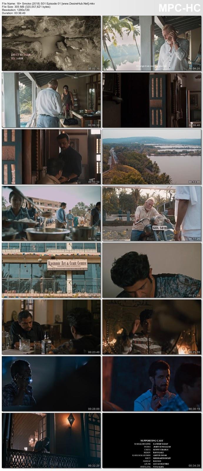 Screen Shoot of [18+] Smoke (2018) Hindi WEB-Series S01 [EP 01-11] 720p HDRip