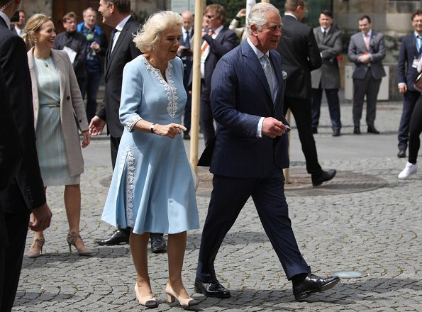 The Duke and Duchess visited Leipzig City Hall, City of Leipzig and for the State of Saxony