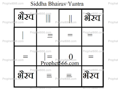 Bhairav Siddhi Yantra to invoke Bhairava to lord of time
