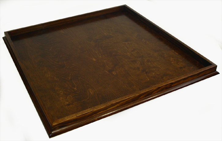 30 X Special Walnut Stained Bevel Edge Ottoman Tray