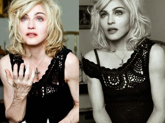 hasil photosop Madonna untuk Dolce & Gabbana