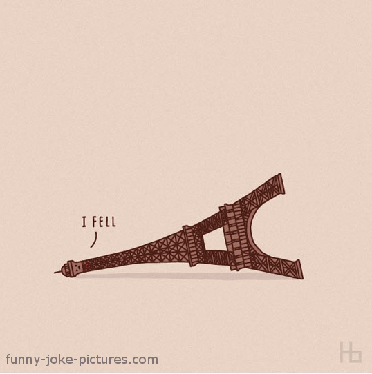 Eiffel Tower Funny Cartoon Image Meme