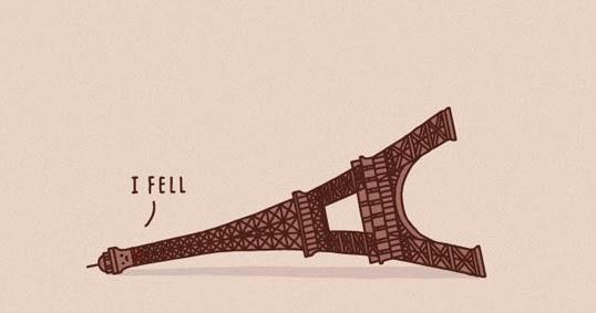 Silly Bunt Paris Eiffel Tower I Fell Cartoon