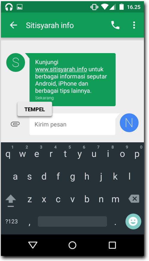 Android Lollipop Copy dan Paste