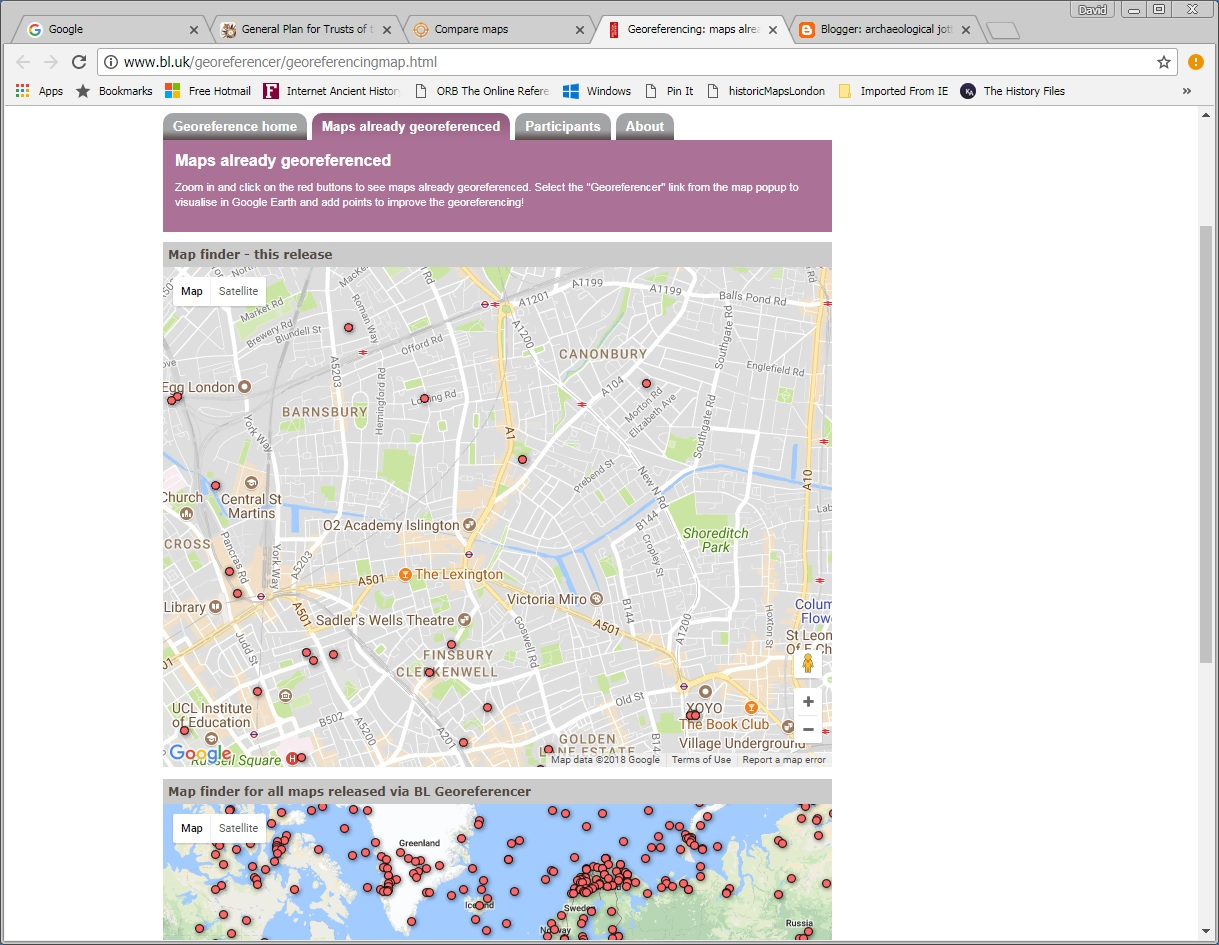 the british library has maps referenced by volunteers crowdsource http www bl uk georeferencer georeferencingmap html