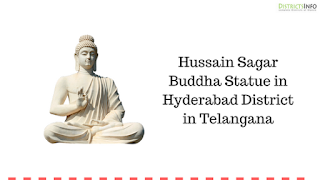 Hussain Sagar Buddha Statue in Hyderabad District in Telangana
