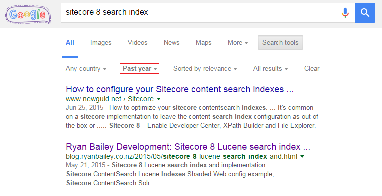 how to filter google search by date