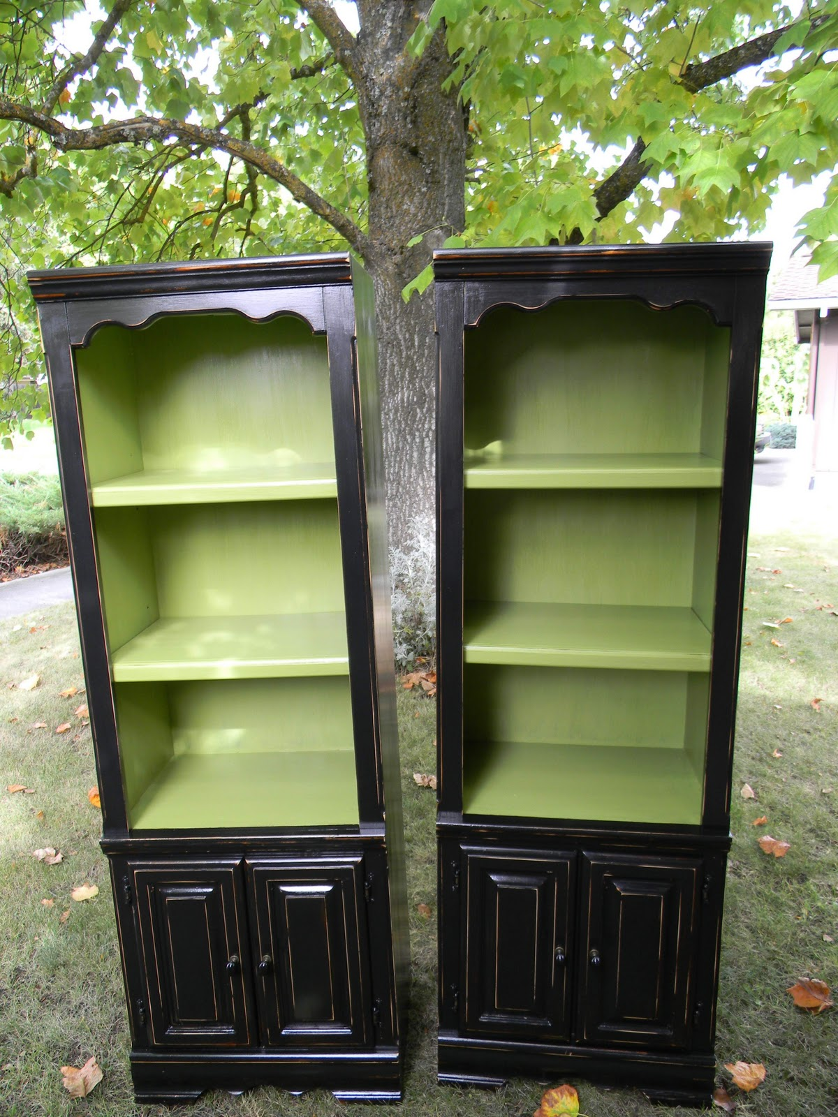 Emily S Up Cycled Furniture Tall Blue Grey Distressed Dresser: Emily's Up-cycled Furniture: Botanical Hutches