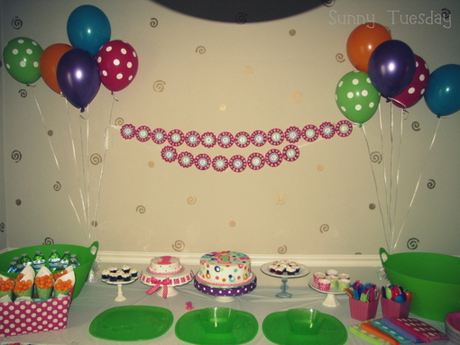 Polka Dot First Birthday Party The Decorations