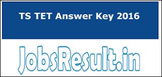TS TET Answer Key 2016