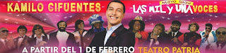 POSTER KAMILO CIFUENTES Las mil y una voces| Teatro Patria