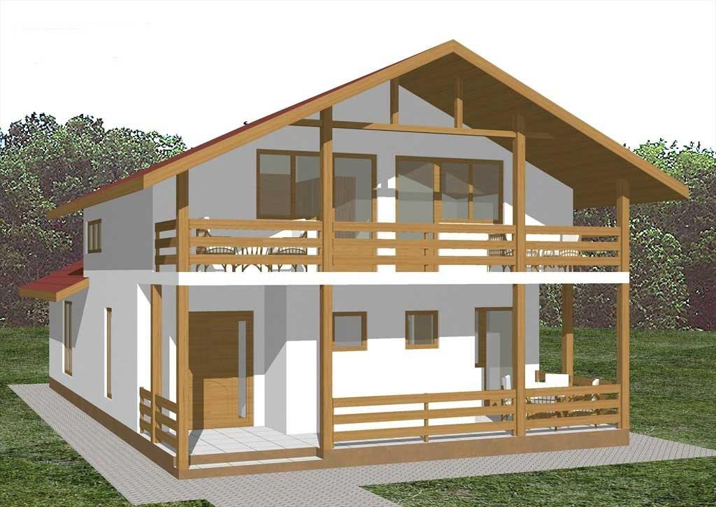 Planos y fachadas de casa de vacaciones de dos plantas for Planos y fachadas de casas