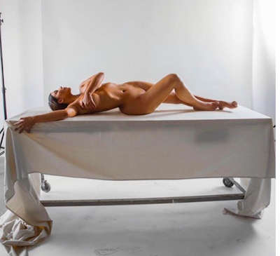 Kim Kardashian Shares Full Unclad Photo Of Herself