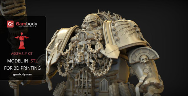 Warhammer40k Chaplain action figure for 3D print