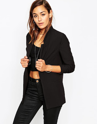 ASOS Slim Jacket In Crepe