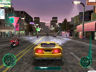 midnight club 2 game yellow car racing with bike