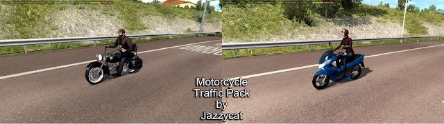 ets 2 motorcycle traffic pack v2.5 screenshots 1, Harley Davidson Heritage Classic, Honda PCX