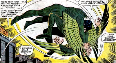 Amazing Spider-Man #63, don heck, john romita, in mid-air, blackie drago tries to strangle the original vulture
