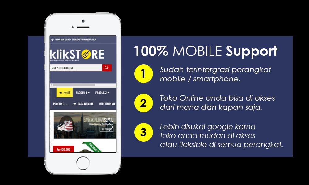 Template Toko Online Blogger Klik Store