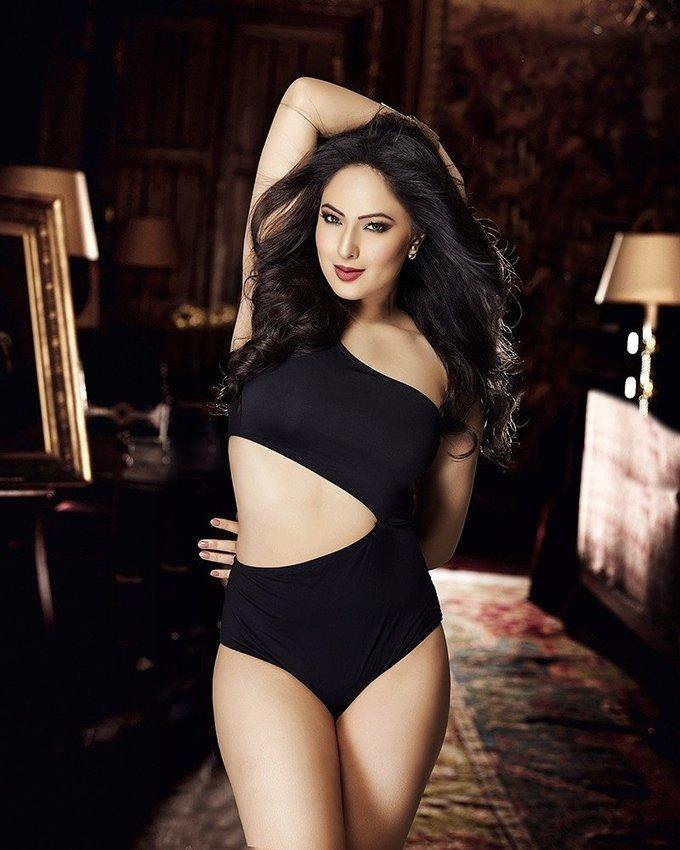 Nikesha Patel In Spicy Black Suit Stills