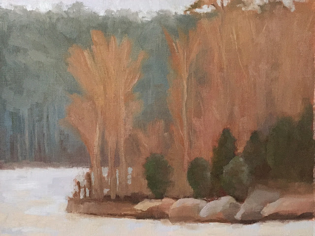 landscape study based on Painting the Poetic Landscape Composition lesson - completed
