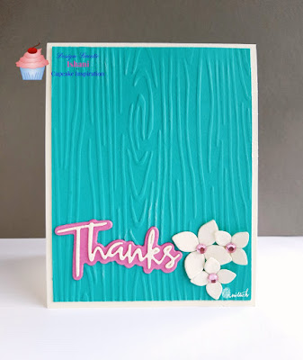 CAS card, CAS-ual Fridays, cas, dry embossing, Embossing folder, teal and pink card, beautiful colors,Diecut, Everyday cards, simon says stamps, Quillish,