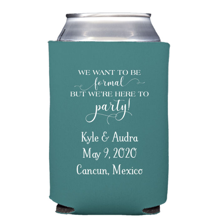 Wedding Can Personalized Koozie Favor