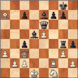 Partida ajedrez Daniele Vocaturo - Benjamin Gledura, Torneo Magistral Internacional Ciudad de Barcelona 2017, posición después de 35.Axa7