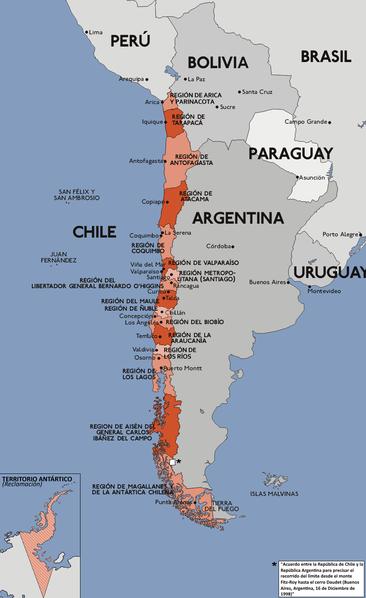 Pembagian wilayah administratif Chili