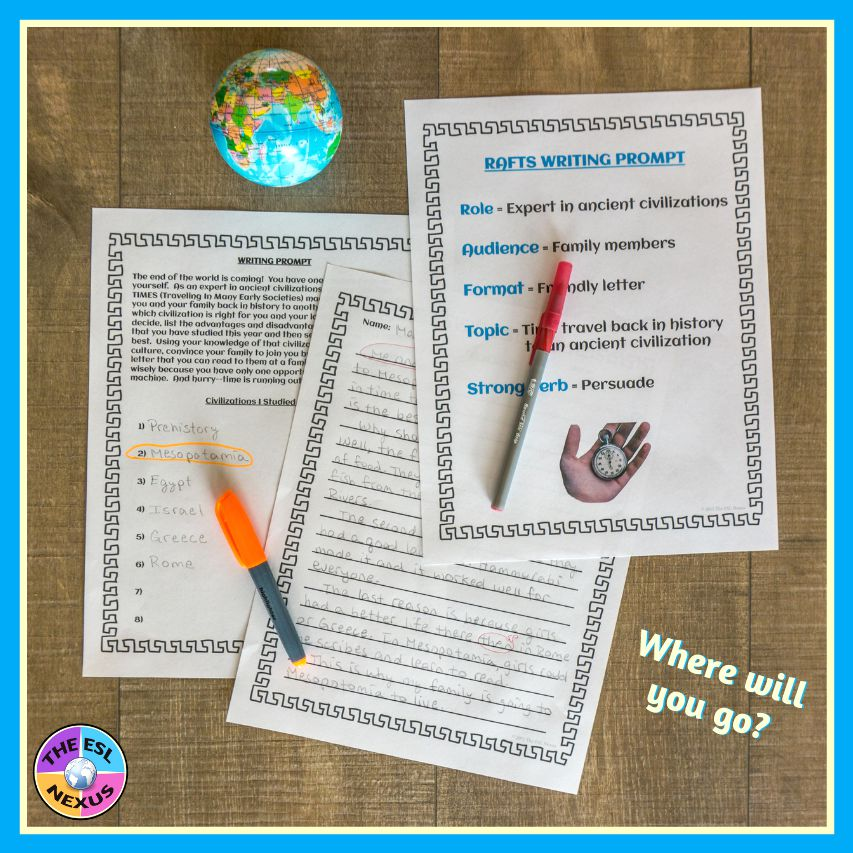 Give your students in Ancient or World History classes this fun end of year activity that lets them demonstrate what they learned in your class #EndofYear #SummativeAssessment | The ESL Nexus