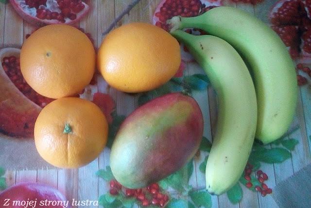 pomarańcze, mango, banany