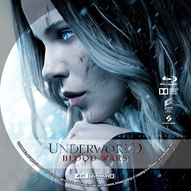 Underworld Blood Wars 4k Bluray Label