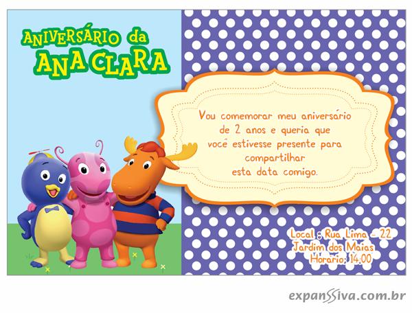 modelos deconvites de aniversario infantil Backyardigans %2B08 - Convites de Aniversário Infantil Backyardigans