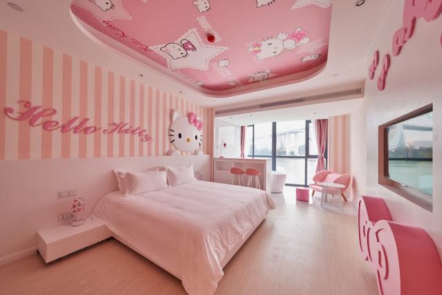 Trang tri phong ngu Hello Kitty dep 01
