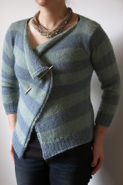 knitting pattern stripy cardigan
