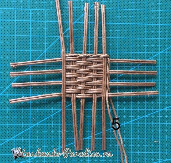 Плетение сумки из проволоки для куклы (5)