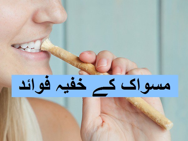 Miswak Ke 9 Hairat Angez Fawaid in Urdu, lady doing miswak, miswak benefits