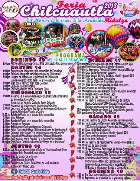 programa feria chilcuautla 2018
