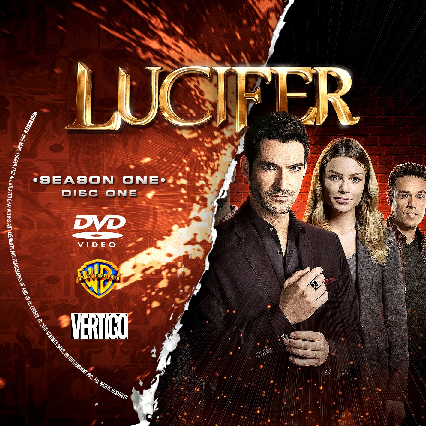Lucifer Season 1 Disc 13 DVD Label  Cover Addict  Free