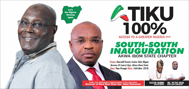 Akwa Ibom Agog as Atiku 100%  South South Unveils.